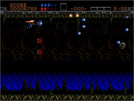 In game image of Wings of Wor on the Sega Genesis.