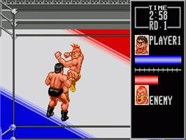 In game image of Wrestle War on the Sega Genesis.