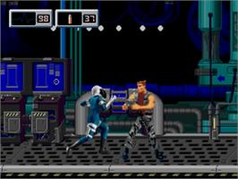 In game image of X-Perts on the Sega Genesis.