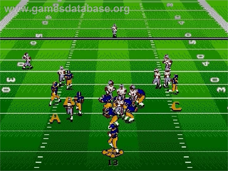 Bill Walsh College Football 95 Sega Genesis Artwork In Game