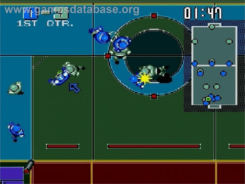 In game image of power ball on the sega genesis