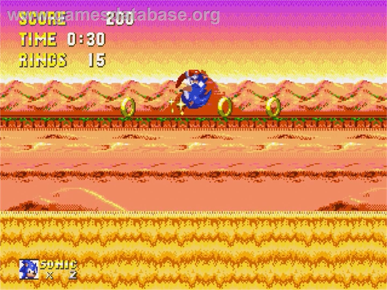 In game image of Sonic & Knuckles on the Sega Genesis ...