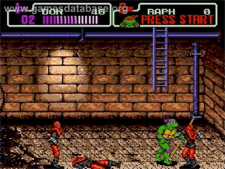 In game image of Teenage Mutant Ninja Turtles: The HyperStone Heist on