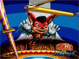 Title screen of Aero the Acro-Bat on the Sega Genesis.