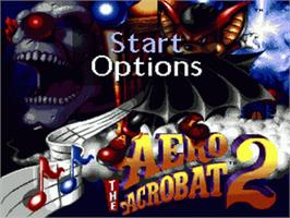 Title screen of Aero the Acro-Bat 2 on the Sega Genesis.