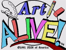 Title screen of Art Alive on the Sega Genesis.