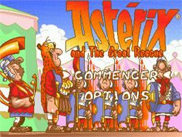 Title screen of Astérix and the Great Rescue on the Sega Genesis.