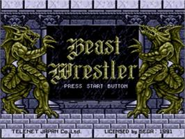 Title screen of Beast Wrestler on the Sega Genesis.