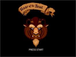 Title screen of Beauty and the Beast: Roar of the Beast on the Sega Genesis.