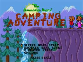 Title screen of Berenstain Bears' Camping Adventure, The on the Sega Genesis.