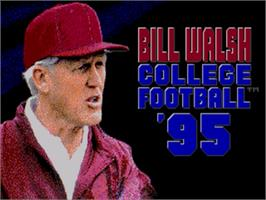Title screen of Bill Walsh College Football 95 on the Sega Genesis.