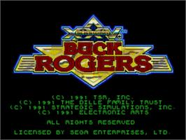 Title screen of Buck Rogers: Countdown to Doomsday on the Sega Genesis.