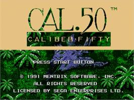Title screen of Caliber 50 on the Sega Genesis.