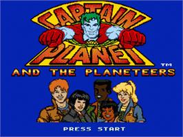 Title screen of Captain Planet and the Planeteers on the Sega Genesis.