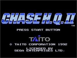 Title screen of Chase H.Q. 2 on the Sega Genesis.