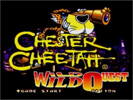 Title screen of Chester Cheetah: Wild Wild Quest on the Sega Genesis.