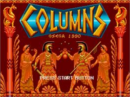 Title screen of Columns on the Sega Genesis.