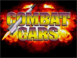 Title screen of Combat Cars on the Sega Genesis.