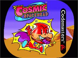 Title screen of Cosmic Spacehead on the Sega Genesis.