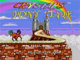 Title screen of Crystal's Pony Tale on the Sega Genesis.