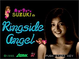 Title screen of Cutie Suzuki no Ringside Angel on the Sega Genesis.