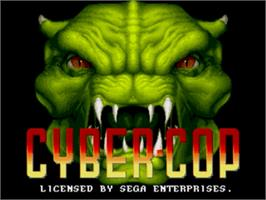 Title screen of Cyber-Cop on the Sega Genesis.