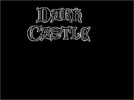 Title screen of Dark Castle on the Sega Genesis.