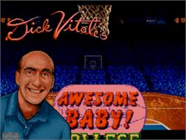 Title screen of Dick Vitale's