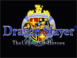Title screen of Dragon Slayer: The Legend of Heroes on the Sega Genesis.