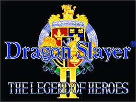 Title screen of Dragon Slayer: The Legend of Heroes 2 on the Sega Genesis.