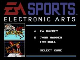 Title screen of EA Sports Double Header on the Sega Genesis.