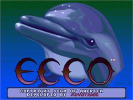 Title screen of Ecco the Dolphin on the Sega Genesis.