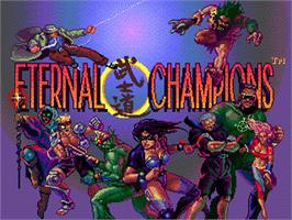 Title screen of Eternal Champions on the Sega Genesis.