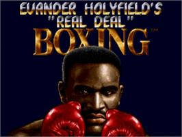 Title screen of Evander Holyfield's