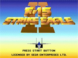 Title screen of F-15 Strike Eagle II on the Sega Genesis.