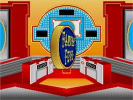 Title screen of Family Feud on the Sega Genesis.