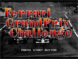 Title screen of Ferrari Grand Prix Challenge on the Sega Genesis.