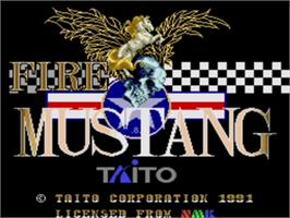 Title screen of Fire Mustang on the Sega Genesis.