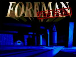 Title screen of Foreman for Real on the Sega Genesis.