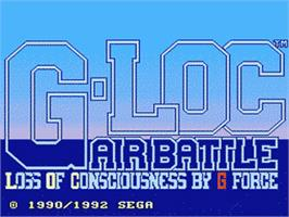 Title screen of G-Loc Air Battle on the Sega Genesis.