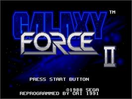 Title screen of Galaxy Force 2 on the Sega Genesis.