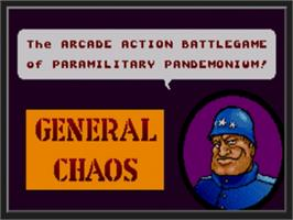 Title screen of General Chaos on the Sega Genesis.