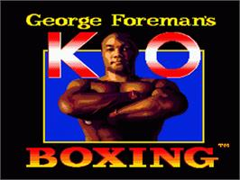 Title screen of George Foreman's KO Boxing on the Sega Genesis.
