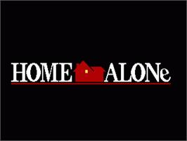 Title screen of Home Alone on the Sega Genesis.