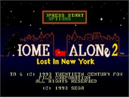 Title screen of Home Alone 2 - Lost in New York on the Sega Genesis.
