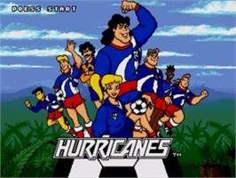 Title screen of Hurricanes, The on the Sega Genesis.