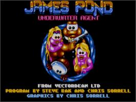 Title screen of James Pond on the Sega Genesis.