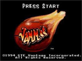 Title screen of Jammit on the Sega Genesis.