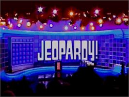 Title screen of Jeopardy on the Sega Genesis.