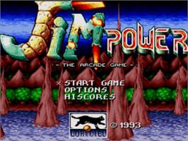 Title screen of Jim Power in